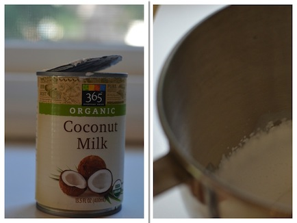Coconut milk whipped