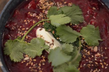 beet soup, Bar Tartine